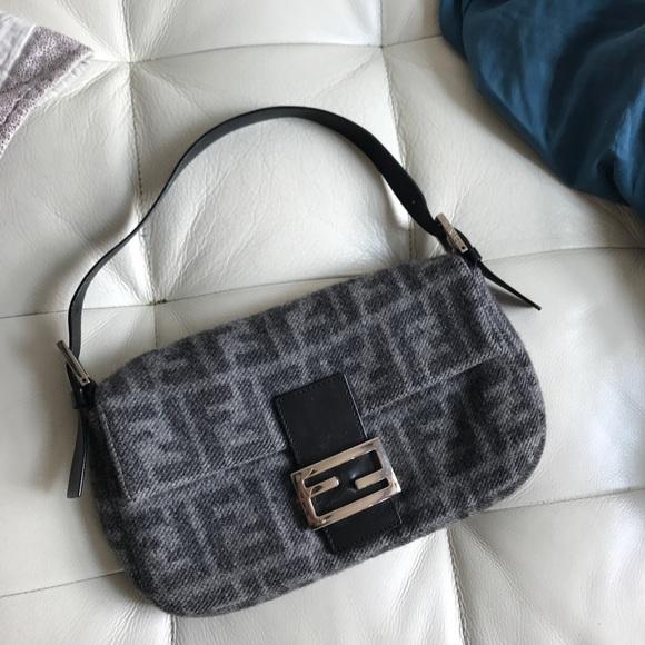 d39d67d40319 Fendi Handbags - Vintage iconic wool fendi zucca baguette purse